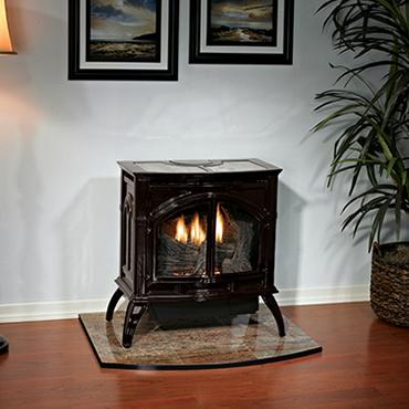 Empire Gas Direct Vent Cast Iron Stove Slope Glaze Burner